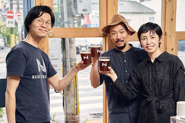 奈良醸造の浪岡さんと、ANY B&B + COFFEEのふたり。