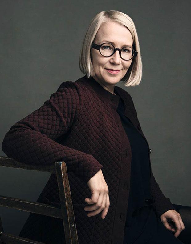 デザイナーのマイヤ・プオスカリ氏。二児の母でもある彼女が、自身の育児体験もとにデザインしている。