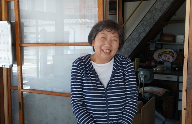 藤屋商店の山浦文子さん。
