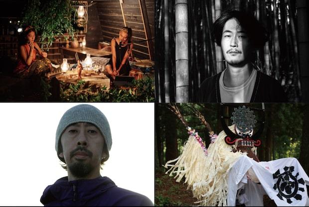 左上から時計回りに、OLAibi + KOM_I、Kuniyuki Takahashi、 DAISUKE TANABE、しし踊り
