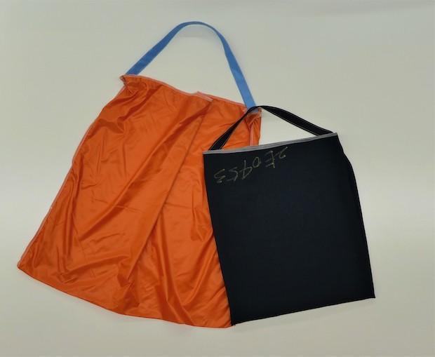 端材を用いたショッピングバッグ