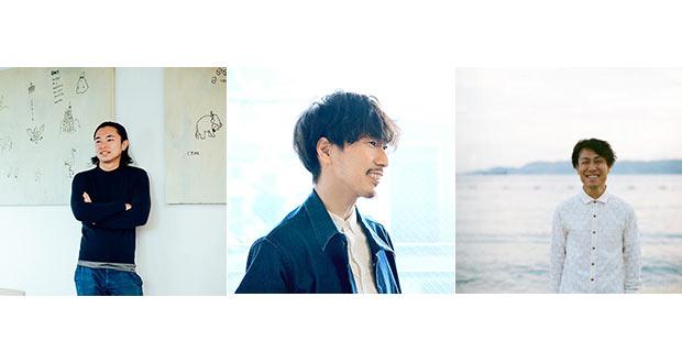 左から〈ロフトワーク〉加藤修平さん、〈Design totte〉越田剛史さん、〈トランクデザイン〉堀内康広さん。