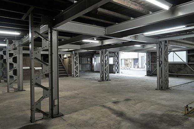 改装前の倉庫の様子。