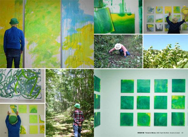 アトリエで制作をしつつ、北海道各地の森も訪ねた。