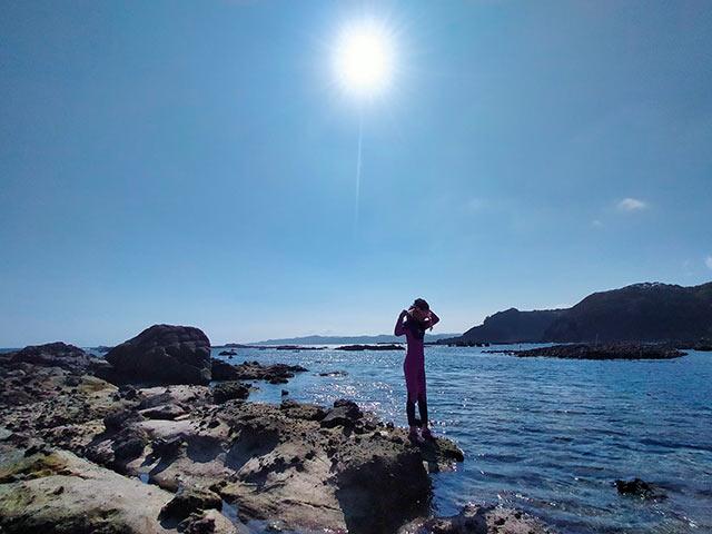 下田の海でシュノーケリング