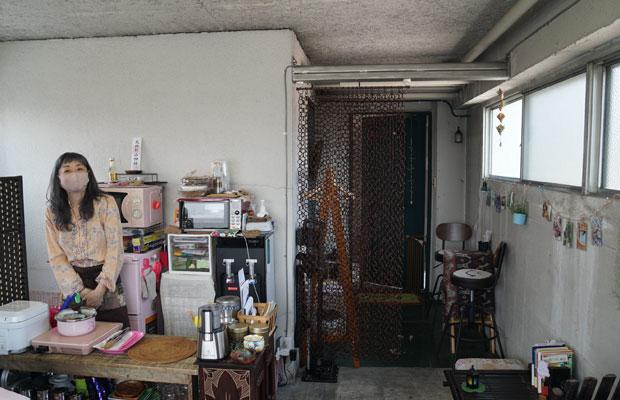 Room G〈やすみんの小べや〉の田中さんは〈やすみんカフェ〉として以前は藤棚デパートメントで営業も。