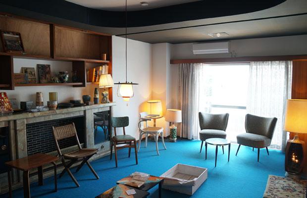Room Cは〈the NOON〉のポップアップショップとして使い、空間も家具も際立たせる。