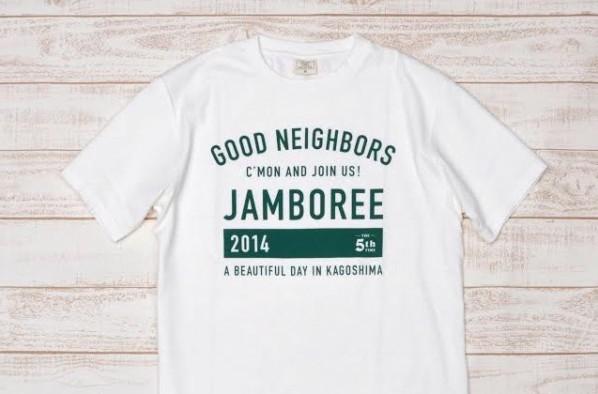 毎年色違いで展開されるオーガニックコットンのGNJオフィシャルTシャツ。