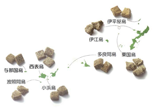 8つの島の「沖縄黒糖®」 出典:沖縄県糖業農産課
