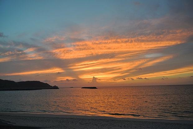伊平屋島の夕焼け。