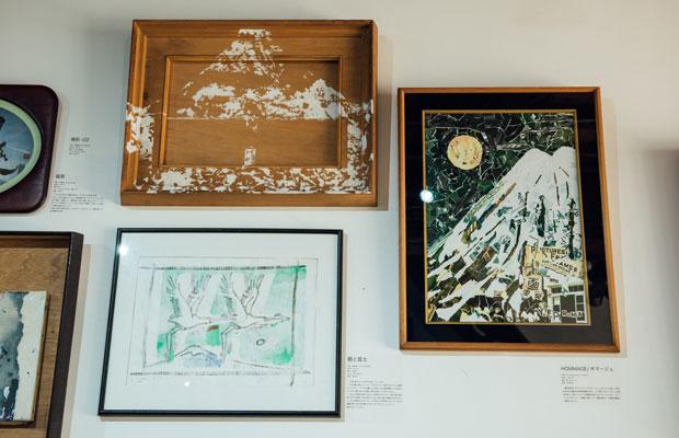 優美堂での展示「ニクイホドヤサシイ/千の窓」では、出展アーティストが優美堂の象徴である富士山をテーマに絵を描いている。