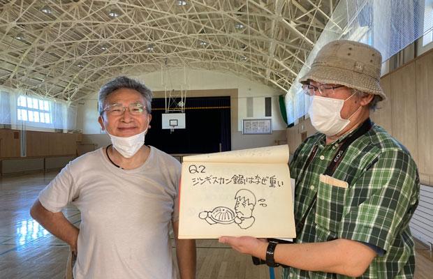 ワークショップとともに、ジン鍋クイズも企画中。溝口雅明館長(左)と、ミュージアムのアートディレクター吉田裕二さん。