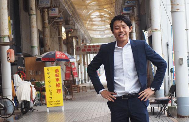 名古屋から出てきて学生ビジネスコンクールで優勝し、いきなりゲストハウスのオーナーとなる奥田慎平さん。