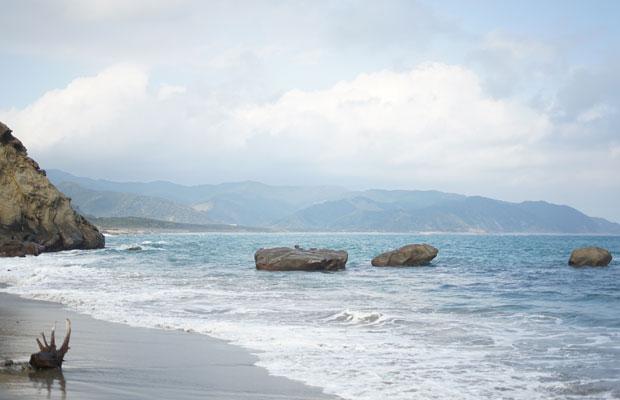 日南の海辺の風景。