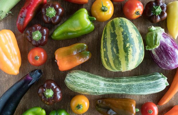 ビビッドな夏野菜たちが元気をくれます。