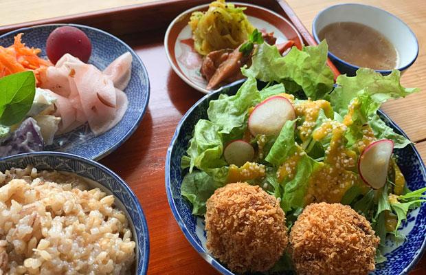 旬の食材でつくられたタネむすび堂の「本日のごはん」1200円。(写真提供:タネむすび堂)