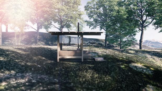 小屋型の〈サ室〉