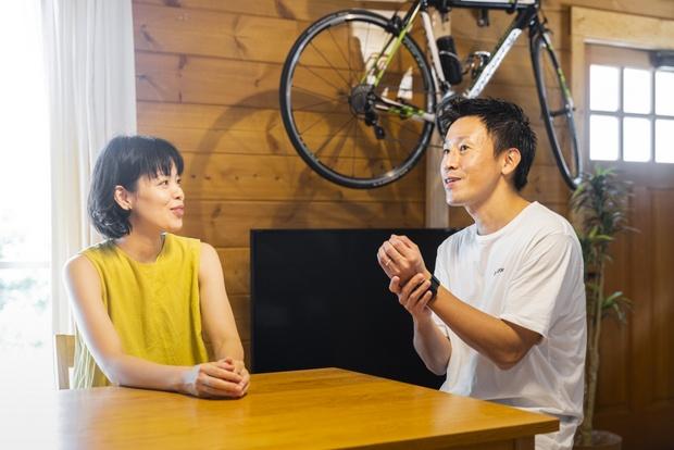 デートで行ったログハウスが忘れられなかったという坂田さん夫妻。ついに念願の我が家を手に入れた。